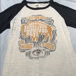 Jamestown Revival band women's baseball shirt
